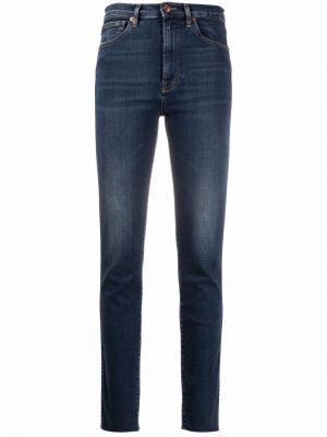 Синие джинсовые зауженные джинсы 3x1