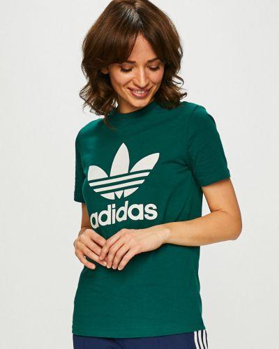 Футболка зеленый эластичный Adidas Originals