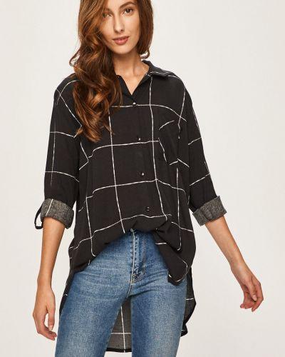 Блузка с длинным рукавом классическая черная Answear