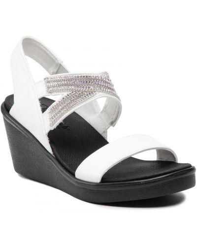 Sandały casual - białe Skechers