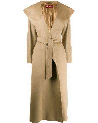 Пальто с капюшоном - коричневое Max Mara Studio