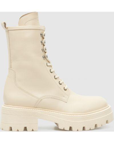 Кожаные ботинки - бежевые Babe Pay Pls