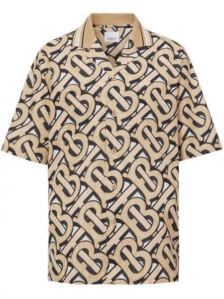 Классическая прямая классическая рубашка с карманами с воротником Burberry