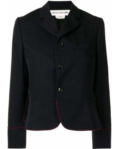 Черный пиджак асимметричного кроя Comme Des Garçons Girl