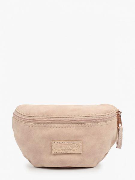 Кожаная сумка поясная бежевый Eastpak