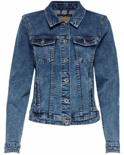 Bawełna niebieski bawełna kurtka jeansowa Only