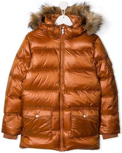 Коричневая пуховая куртка Pyrenex Kids