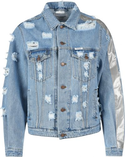 Хлопковая куртка - голубая Forte Couture
