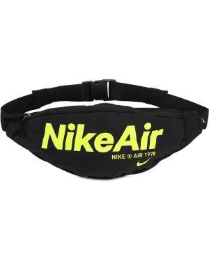 Czarny pasek z paskiem klamry Nike