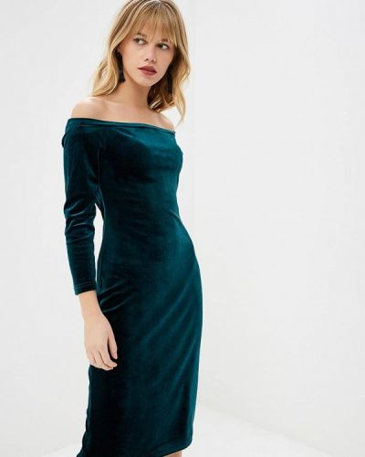 Платье с открытыми плечами осеннее Irina Vladi