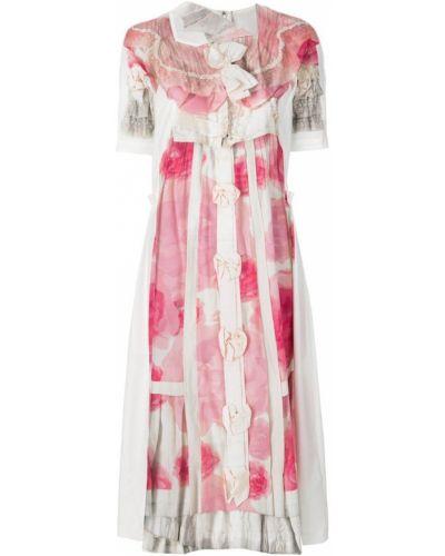 Платье миди с цветочным принтом мини Comme Des Garçons Comme Des Garçons
