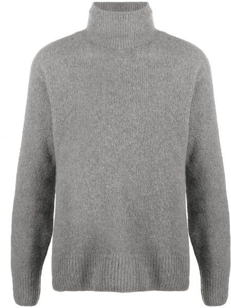 Wełniany trykotowy sweter z długimi rękawami z mankietami Kenzo