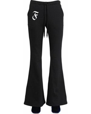 Czarne joggery bawełniane rozkloszowane Facetasm