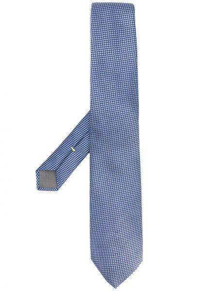 Krawat jedwab ciemnoniebieski Canali