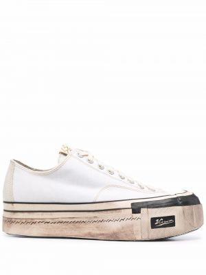 Białe sneakersy skorzane Visvim