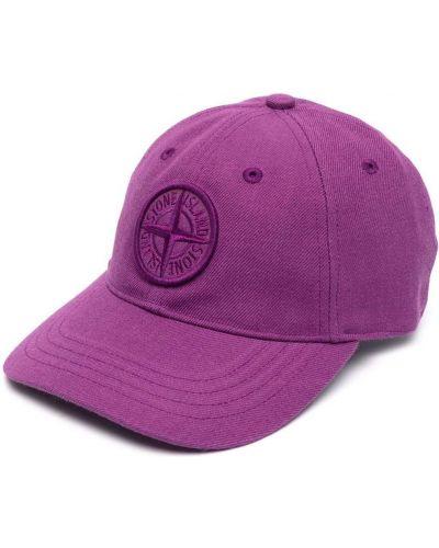 Фиолетовая хлопковая кепка Stone Island