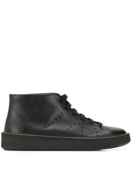 Черные кожаные ботинки Camper