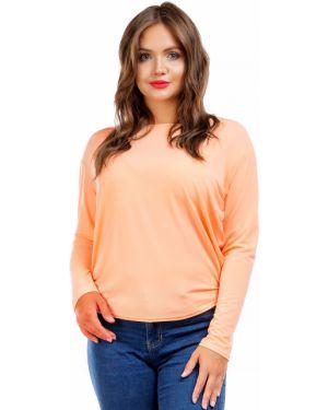 Блузка летучая мышь персиковый Liza Fashion