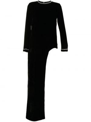 Bluzka asymetryczna - czarna Semsem