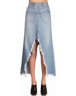 Джинсовая юбка с завышенной талией макси Givenchy