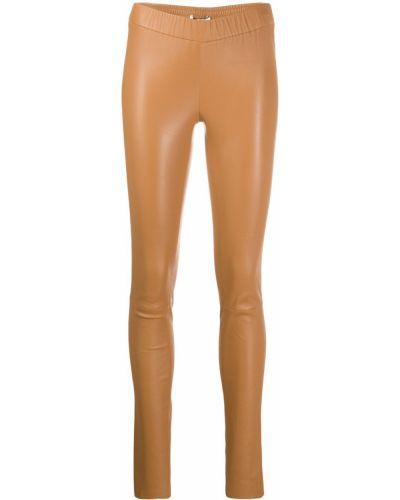 Кожаные леггинсы - бежевые Max & Moi