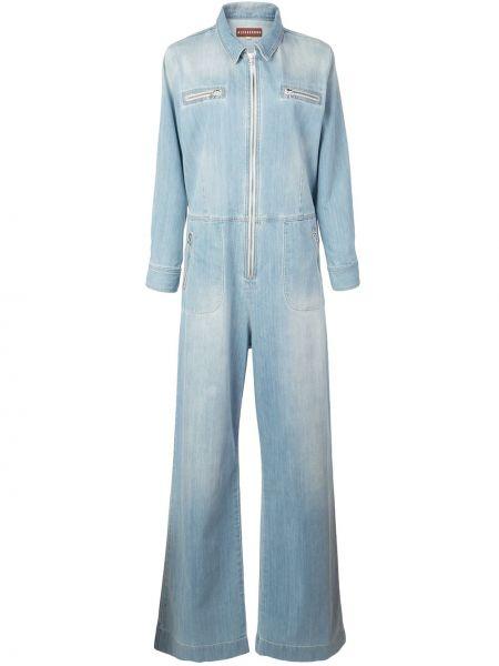Dżinsowa garnitur niebieski długo Alexa Chung