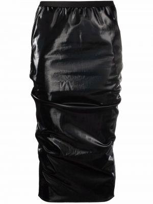 Хлопковая черная юбка с завышенной талией Rick Owens Lilies