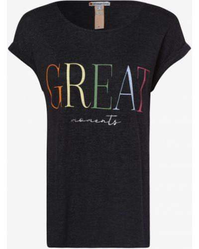 Szary t-shirt z printem Street One