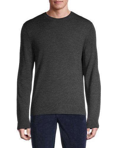 Мягкий фиолетовый шерстяной длинный свитер Saks Fifth Avenue