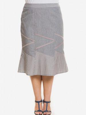Серая весенняя юбка Venusita