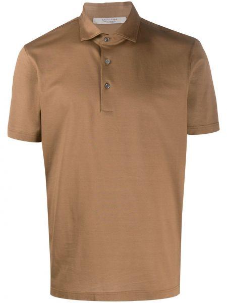 Коричневая классическая классическая рубашка с воротником La Fileria For D'aniello