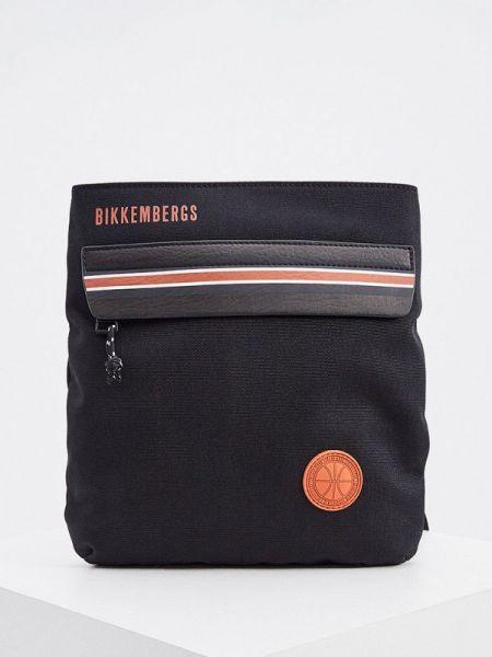Черная текстильная сумка через плечо Bikkembergs