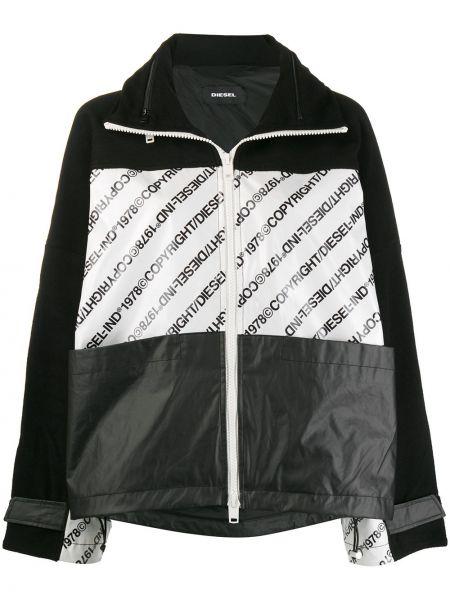 Куртка с капюшоном длинная леопардовая Diesel