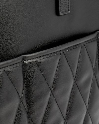 Черная стеганая сумка шоппер Stradivarius