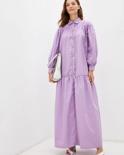 Платье рубашка - фиолетовое Chic De Femme