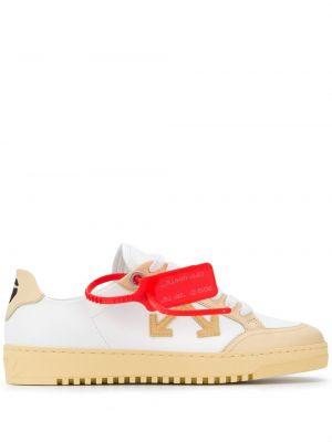 Beżowe sneakersy skorzane Off-white