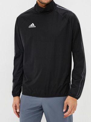Куртка черная осенняя Adidas