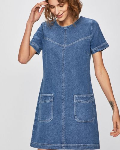 Джинсовое платье мини с карманами Answear