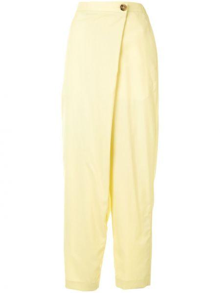 Spodnie z wysokim stanem - żółte Enfold