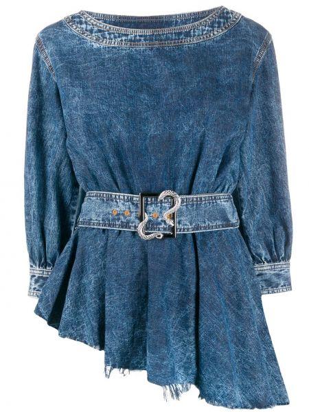 Топ асимметричный джинсовый Just Cavalli