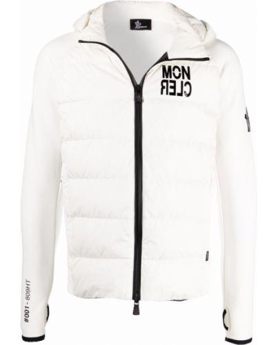 Biała kurtka ze stójką Moncler Grenoble