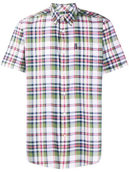 Koszula krótkie z krótkim rękawem klasyczna z kołnierzem Barbour