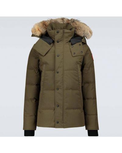 Теплая пуховая куртка милитари Canada Goose