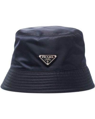 Niebieski kapelusz Prada