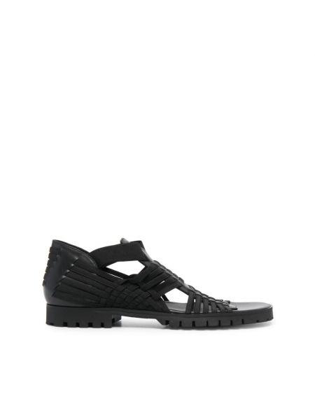 Czarne sandały w paski Kenzo