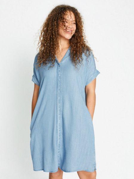Платье платье-рубашка весеннее Violeta By Mango