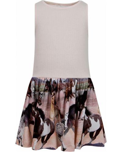 Розовое платье из вискозы Molo