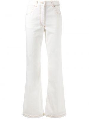 Белые джинсы с высокой посадкой с карманами Jw Anderson