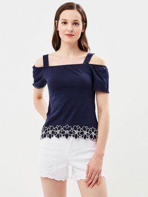Блузка с открытыми плечами турецкий синяя Dorothy Perkins