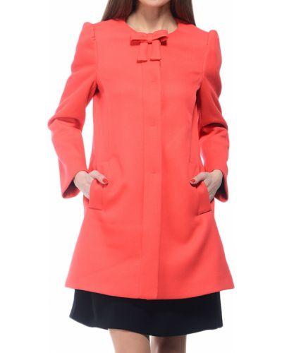Коралловое пальто с капюшоном Red Valentino